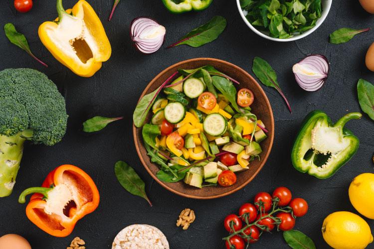 High carb health healthy veggies
