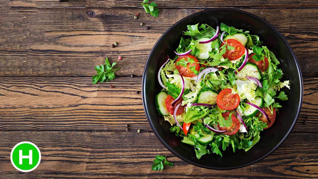 Eat raw salads and fruit - Highcarb Health