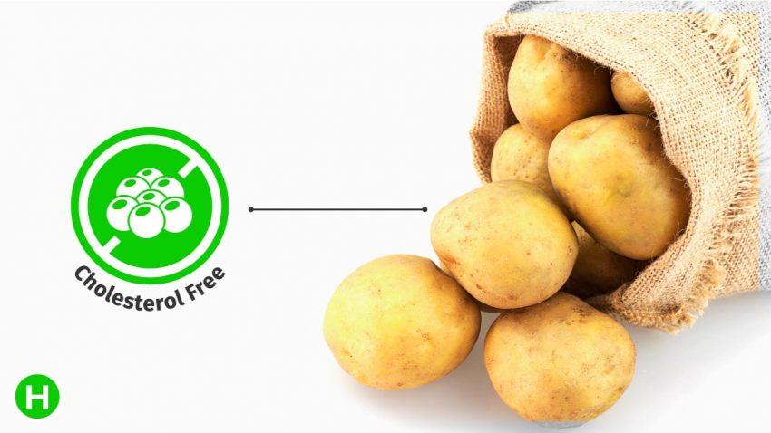 Potato contain zero cholestrol